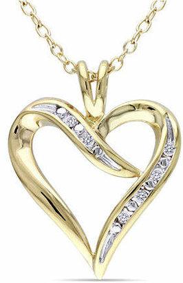 HBC CONCERTO Diamond Swirl Heart Necklace
