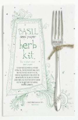 Monkeys Always Look Basil Herb Kit & Garden Marker