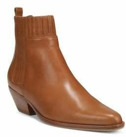 Vince Eckland Almond-Toe Leather Booties
