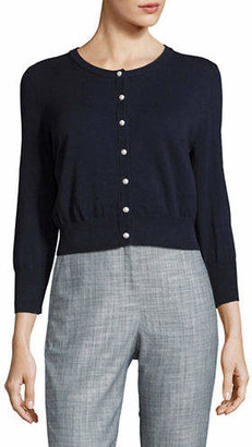 Karl Lagerfeld PARIS Cropped Lace-Back Cardigan