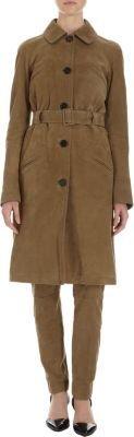 Proenza Schouler Belted Suede Coat