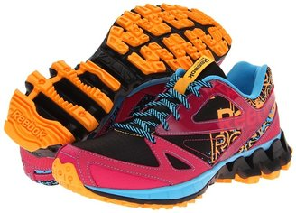 Reebok Kids - Zigkick Trail 1.0 (Big Kid) (Black/Candy Pink/Blue Blink/Neon Orange) - Footwear