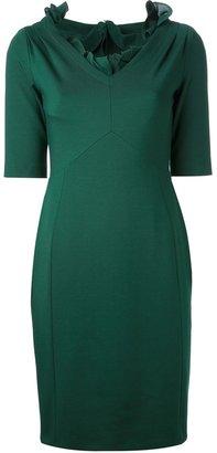 Moschino frill neck dress