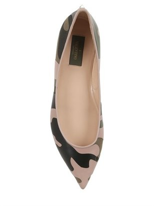 Valentino 10mm Camouflage Leather Ballerinas