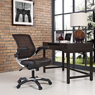 Modway Edge Mesh Back Faux Leather Office Chair