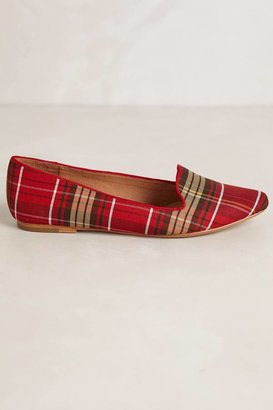 Joie Woven Plaid Loafers