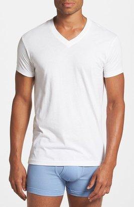 Men's 2(X)Ist Pima Cotton V-Neck T-Shirt $28 thestylecure.com