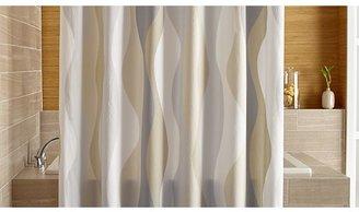 Crate & Barrel Italian Seersucker Neutral Shower Curtain