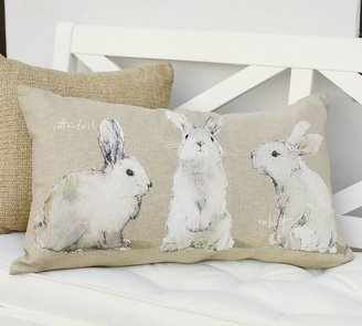 Pottery Barn Watercolor Bunny Lumbar Pillow Cover