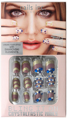 Nails Inc Bling It On Swarovski Crystaltastic Nails - Chic Pink & Blue