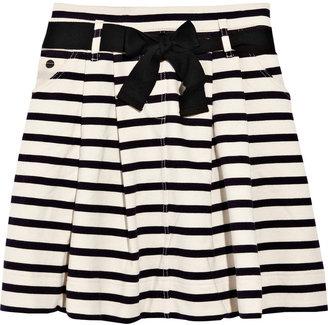 Sonia Rykiel Sonia by Striped cotton-jersey skirt