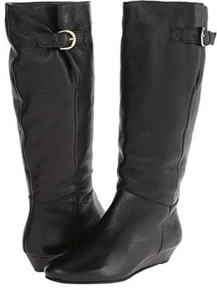 STEVEN NEW YORK Intyce (Black Leather) Women's Pull-on Boots
