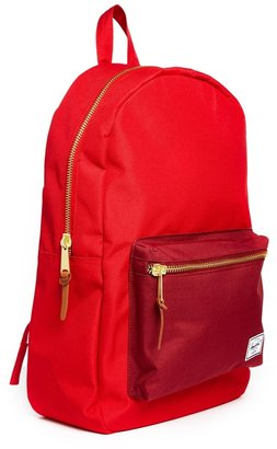 Herschel Settlement Backpack in Red with Contrast Pocket