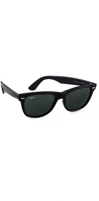 Ray-Ban Outsiders Oversized Wayfarer Sunglasses $150 thestylecure.com