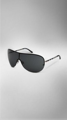 Burberry Check Detail Visor Sunglasses