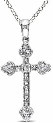 HBC CONCERTO .10 CT Diamond and Sterling Silver Religious Necklace