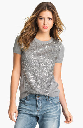 Vince Camuto Short Sleeve Sequin Sweater