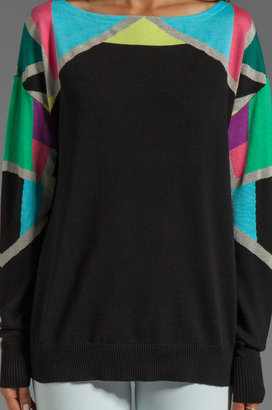 Nanette Lepore Tight Rope Knit Fire Eater Sweater