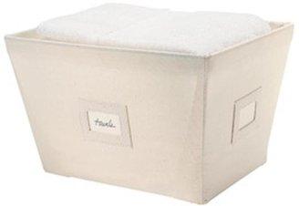 Container Store Medium Open Canvas Bin Natural