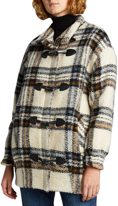 Veronica Beard Cael Check Toggle Coat