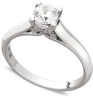 Macy's X3 Certified Diamond Engagement Ring in 18k Gold or 18k White Gold (1/2 ct. t.w.), Created for