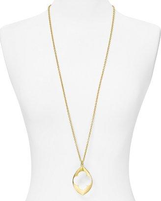 T Tahari Open Oval Pendant Necklace, 36 & #034;L