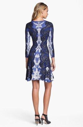 BCBGMAXAZRIA Intarsia Knit Sweater Dress