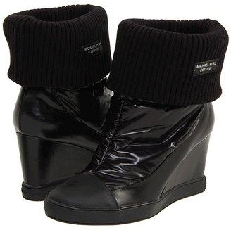 MICHAEL Michael Kors Winter Wedge Bootie (Black Nylon) - Footwear