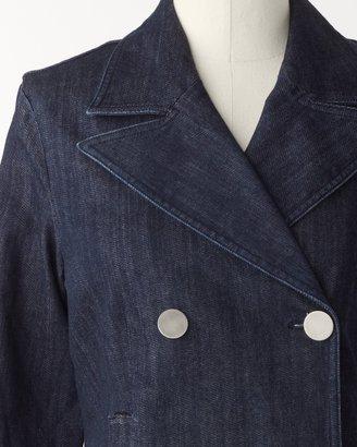 Coldwater Creek Denim pea jacket