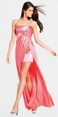 Faviana High Low Strapless Prom Dress