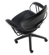 Steelcase Uno Task Chair Upholstery Color: Buzz2 - Black, Casters/Glides: Standard Glides