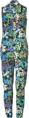 Sophie Hulme Multicolored Floral Print Silk Jumpsuit