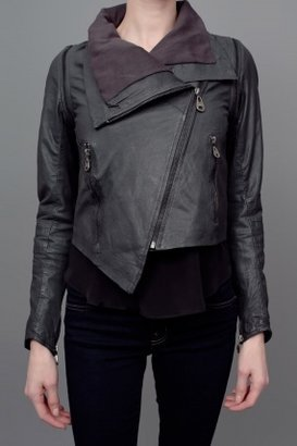 Doma Diagnol Leather Jacket/Vest