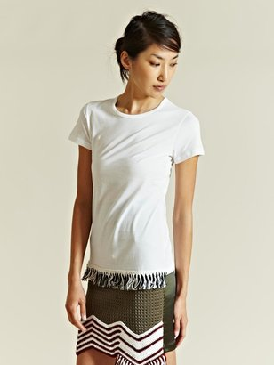 J.W.Anderson Women's Fringe Detail T-shirt