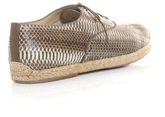 Christian Louboutin Espafred watersnake lace-up espadrilles