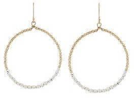Mizuki Large Faceted Bead Earrings - Gold/Silver