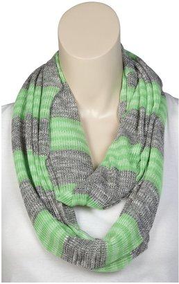 Erge Sweater Stripe Infinity Scarf - Green-One Size