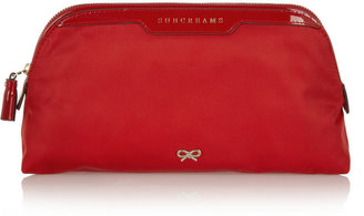 Anya Hindmarch Suncreams patent leather-trimmed beauty case