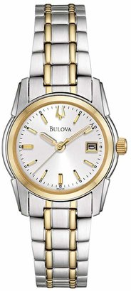Bulova Women's Dress Two Tone Stainless Steel Watch - 98M105 $250 thestylecure.com