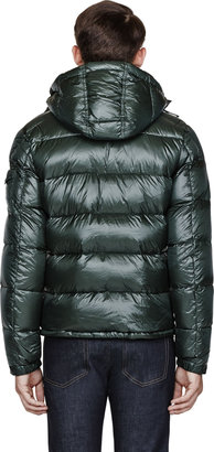 Moncler Green Removable Collar Zin Jacket