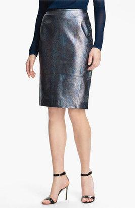 Rachel Roy Leather Pencil Skirt