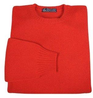 Principe di Salina Flame Red Cashmere Crewneck Sweater