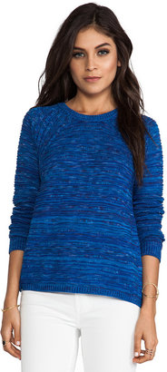 Autumn Cashmere Wavy Space Dye Crew Sweater