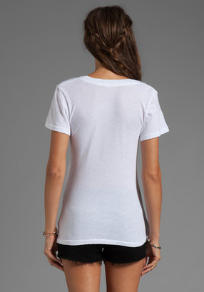 Wildfox Couture Eiffel Tower Short Sleeve V-Neck in White