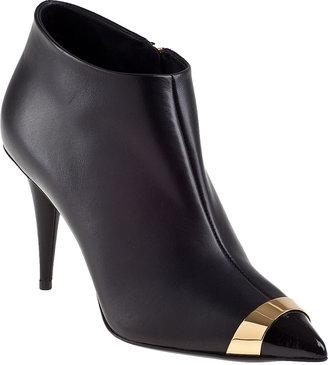 Giuseppe Zanotti Cap-Toe Bootie Black Leather