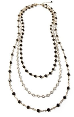 White House Black Market Jet/Goldtone Convertible Necklace