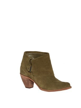 Alice + Olivia Caden Oiled Suede Ankle Boot