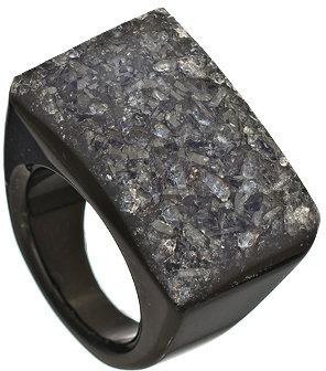Ettinger UK Dara Dara Black All Geode Ring