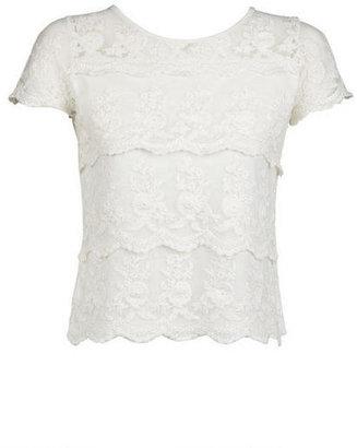 Delia's Scallop Lace Short-Sleeve