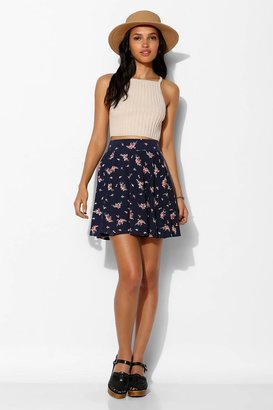 Urban Outfitters Pins And Needles Floral Skater Skirt